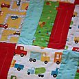 Stop and go patchwork carseat quilt