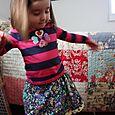 Twirly skirt with heart shirt