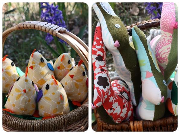 Bunnies and chicks basket