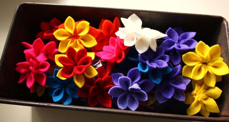 Felt flowers 015