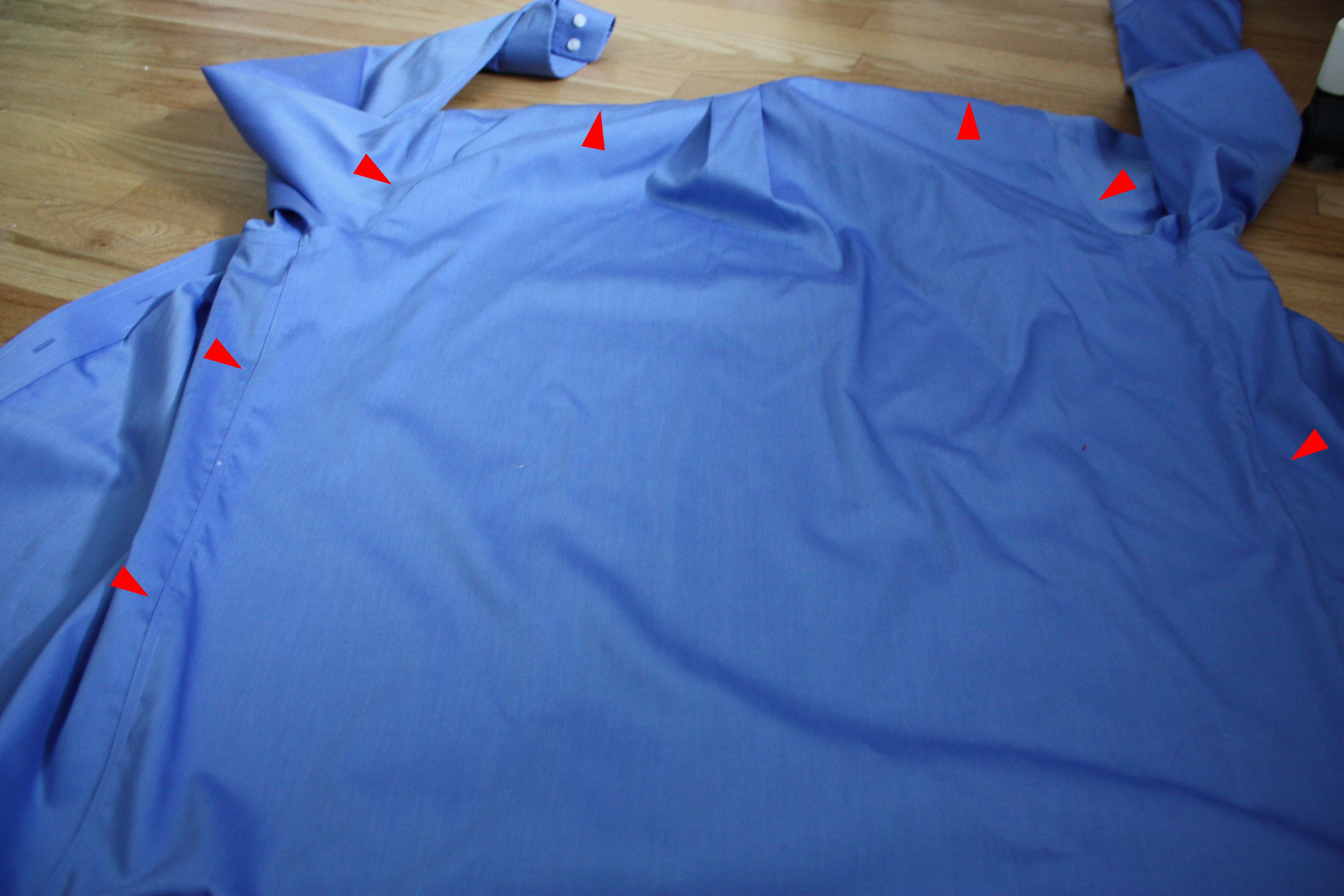 Hooded superhero cape: a tutorial using a men's dress shirt