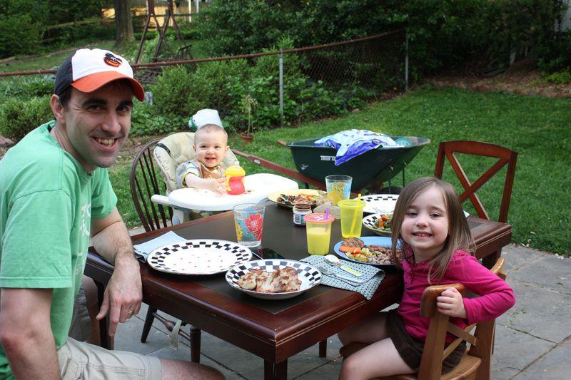First outside dinner of 2011 004
