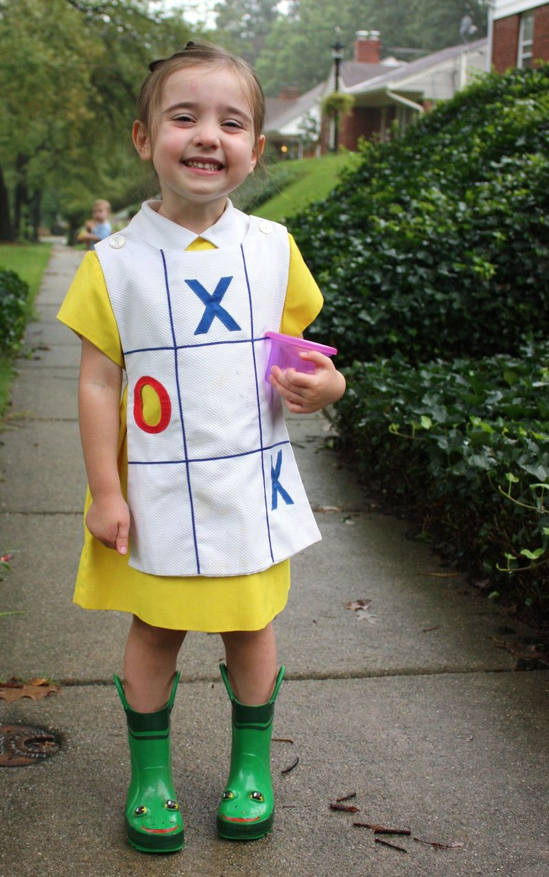 Rainy day stuff...tic tac toe dress 008