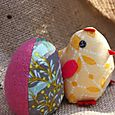 Pink chick and egg