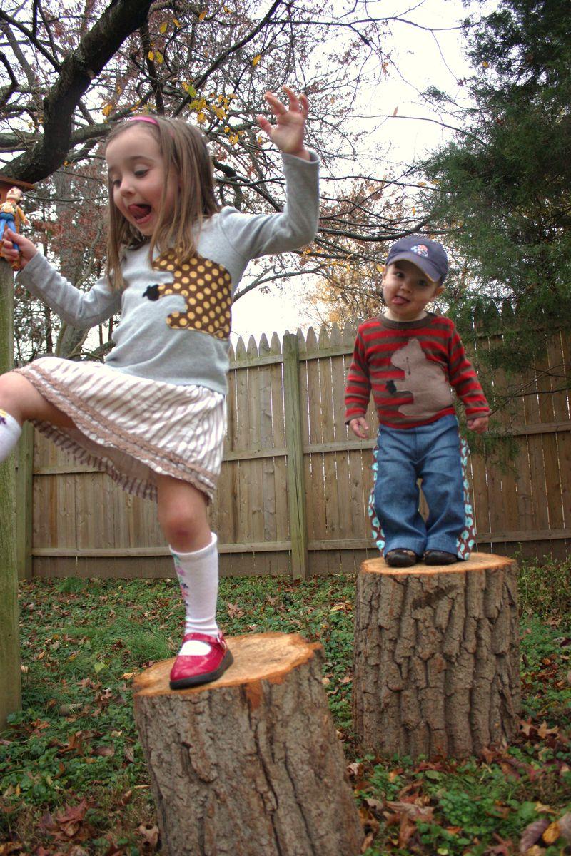 Squirrel shirts and knee socks 044