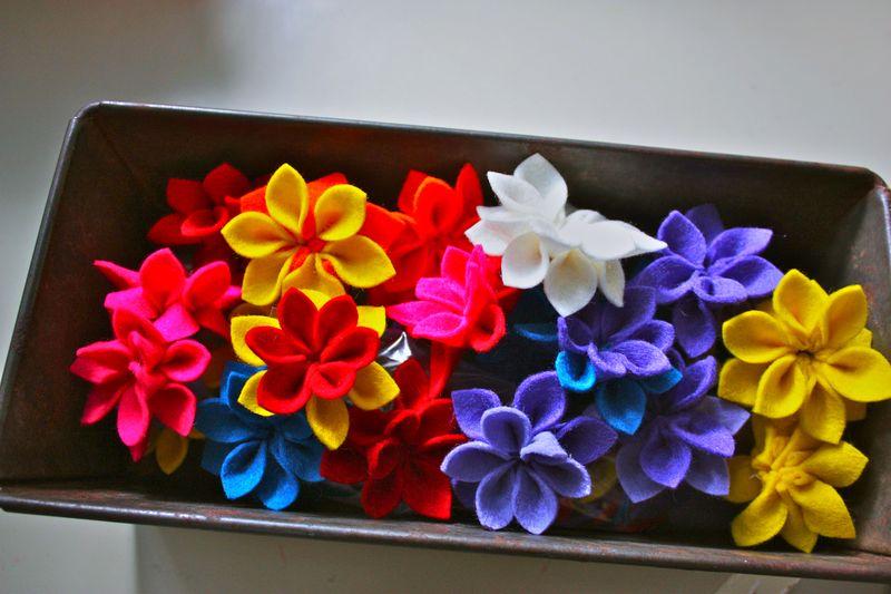 Felt flowers 016