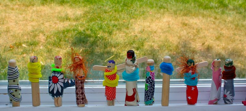 Carosel, train, lazy days and clothespin people 036
