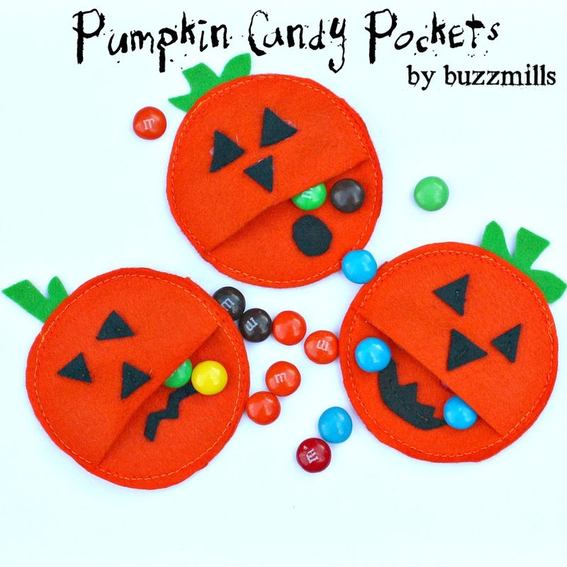 Pumpkin candy pockets