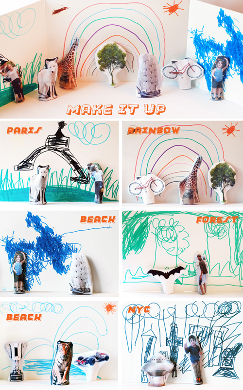 Make-it-up-stories-puppets and backdrops