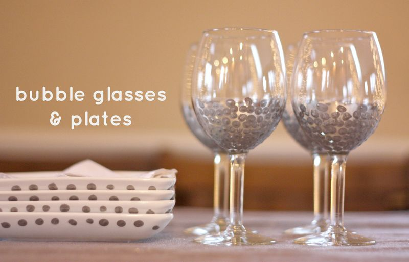 Bubble glasses and plates