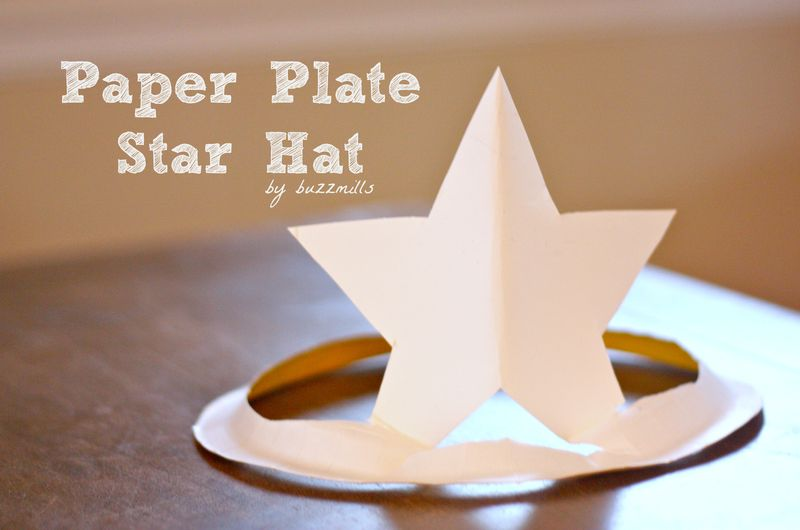 Paper plate star hat