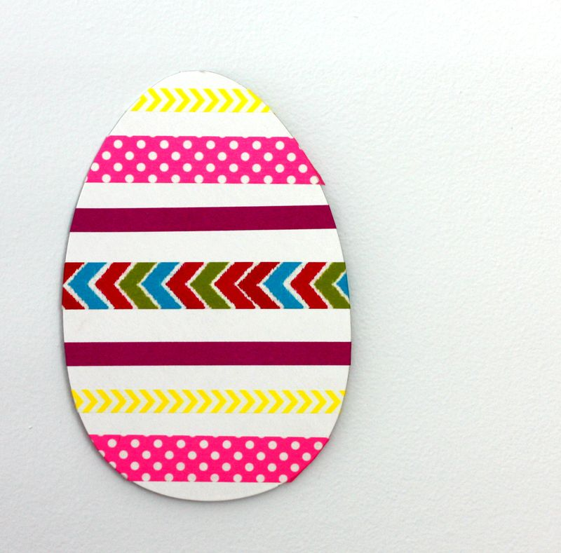Washi tape egg