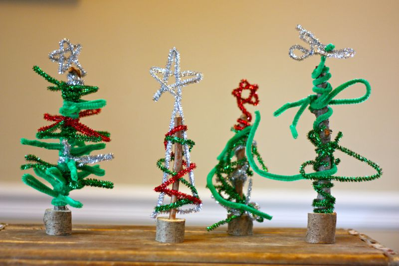 pipe cleaner trees - Pipe Cleaner Christmas Tree