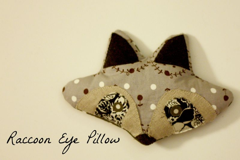 Raccoon eye pillow