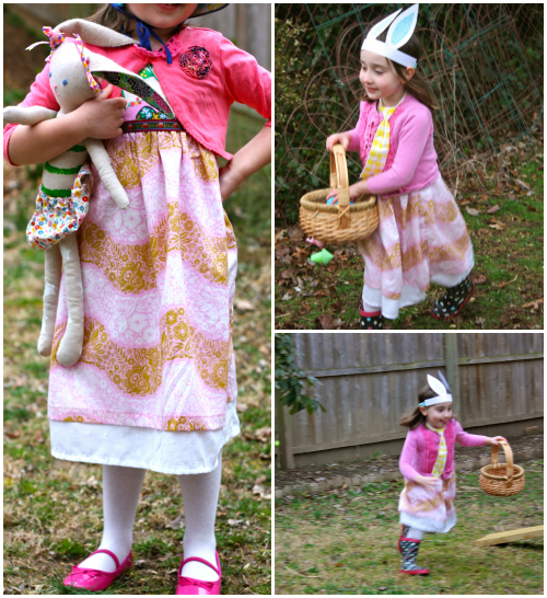Easter dress collage