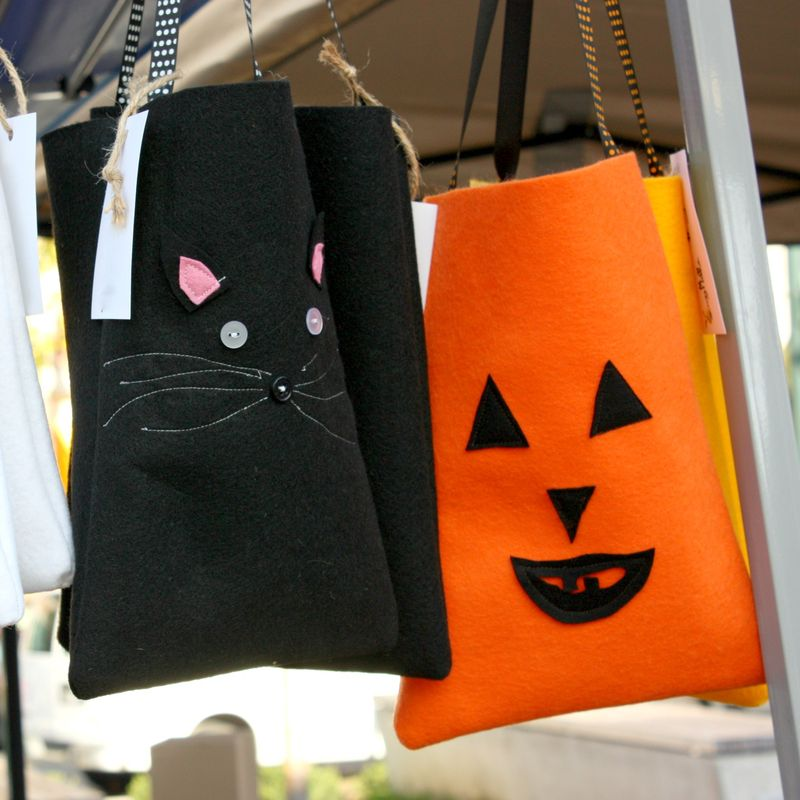 Kitty pumpkin bags