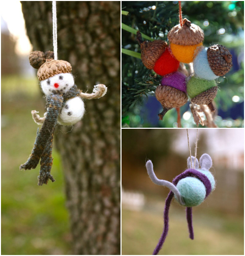Felt ball ornaments