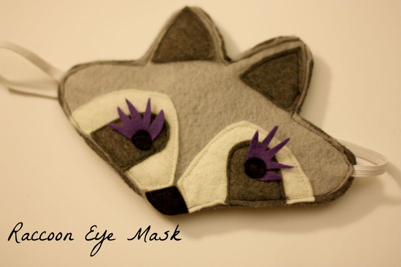 Raccoon eye mask words