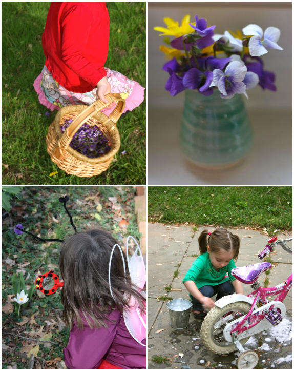 Flowers, vase, investigate, bike