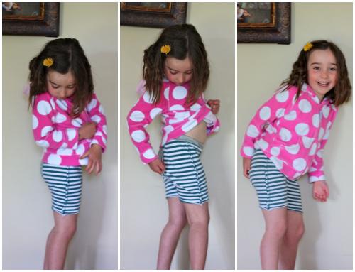 Violet stripe fancy pants