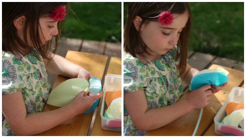 Violet making Collage