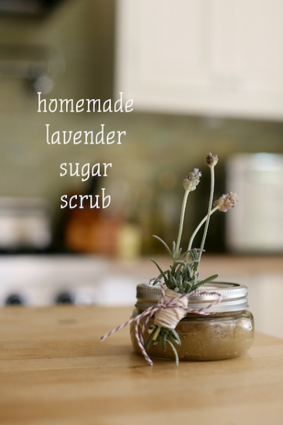 DIY lavender sugar scrubs