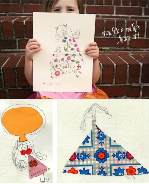 Miranda makes graphite & collage art