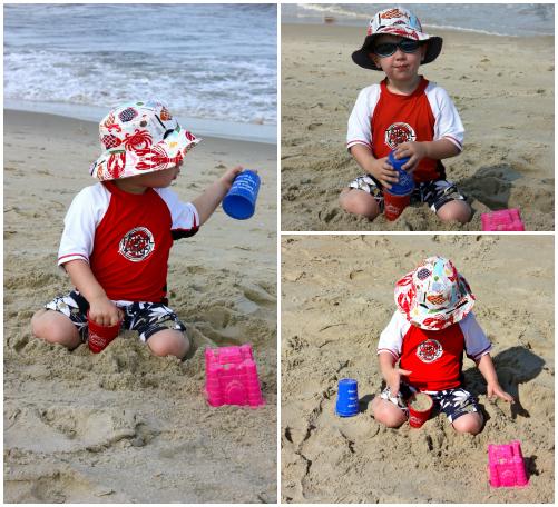 Crab hat collage