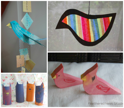 Kid crafting with feathered nest studios