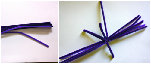 Pipe cleaner pom pom Collage