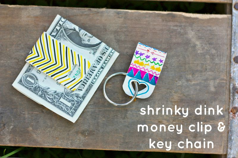 Shrinky dink money clip and keychain