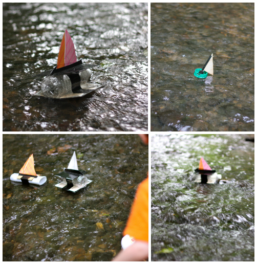 Boats floating