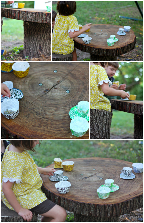 Tree table collage