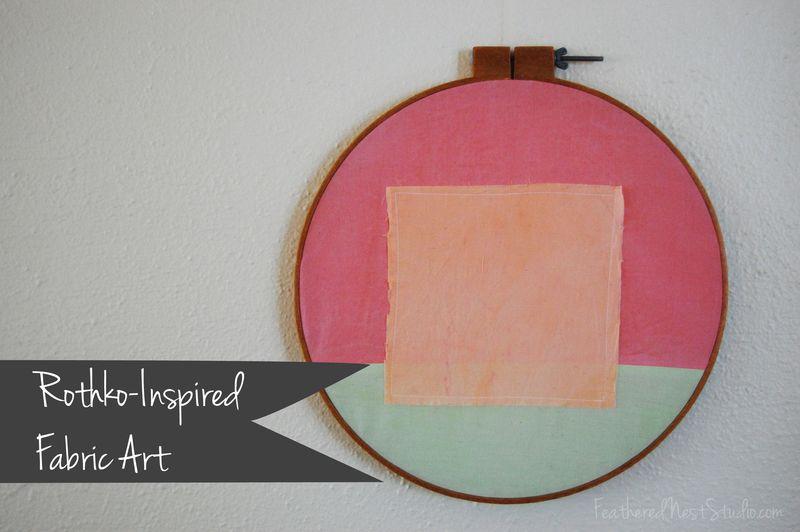 Rothko Inspired Fabric Art