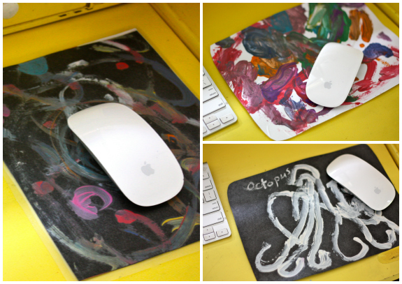 Mouse pad for Dad! Father's Day gift ideas kids can make | Inner Child Giving