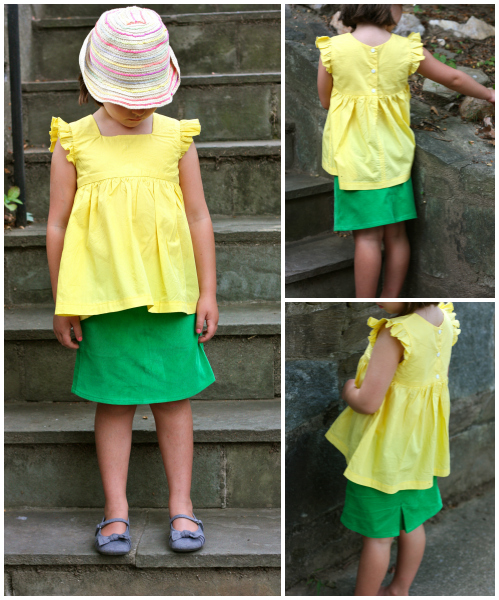Yellow geranium tunic