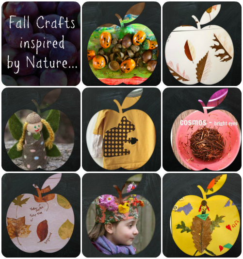 Fall crafts inspired by nature collage