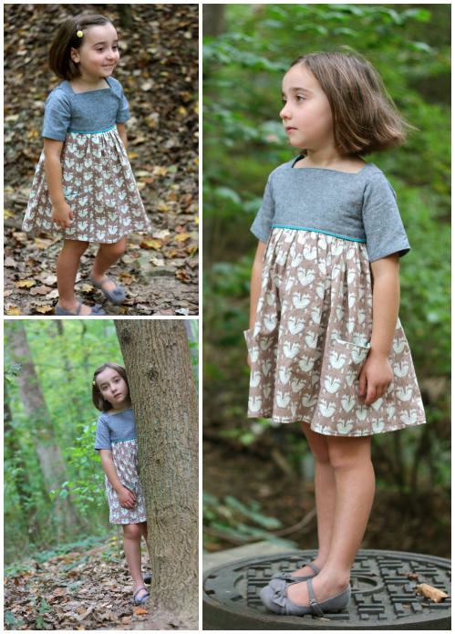 Foxy sally dress collage