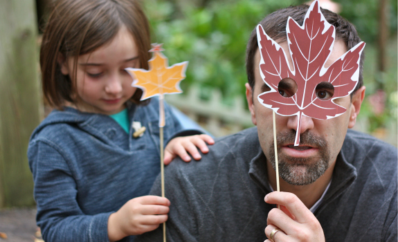 Leaf mask photo prop
