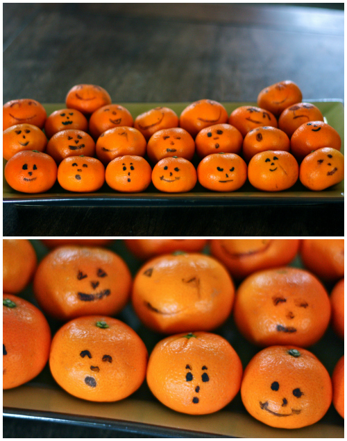Jack o lantern clementines