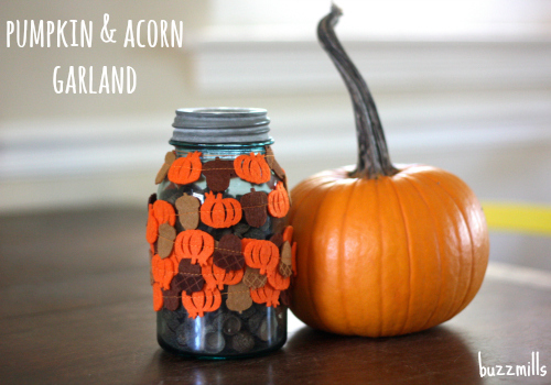 Pumpkin and acorn garland buzzmills