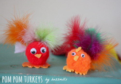 Pompom turkeys