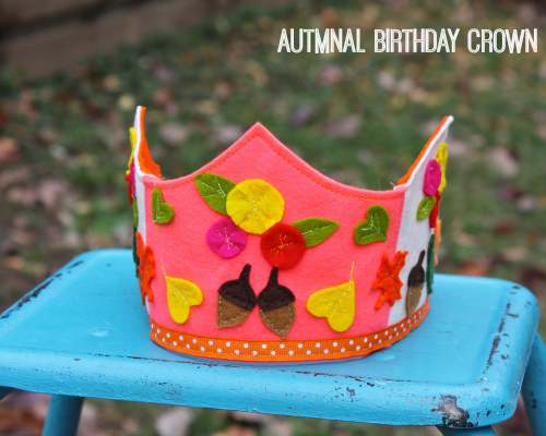 Autumnal birthday crown