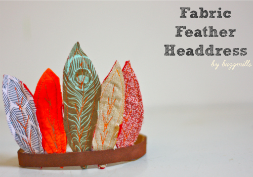 Fabric feather headdress