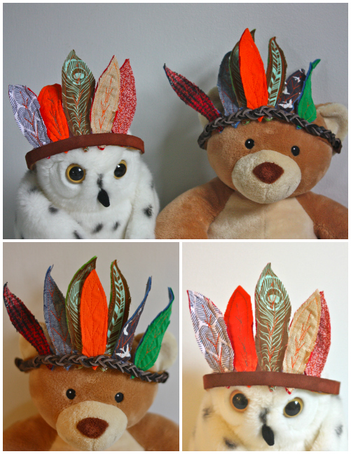 Owl and bear in headdress