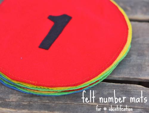 Felt number mats