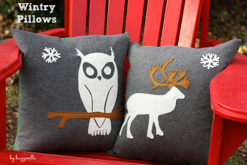 Wintry pillows