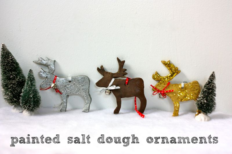 Painted salt dough ornaments