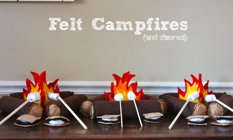 Felt campfires