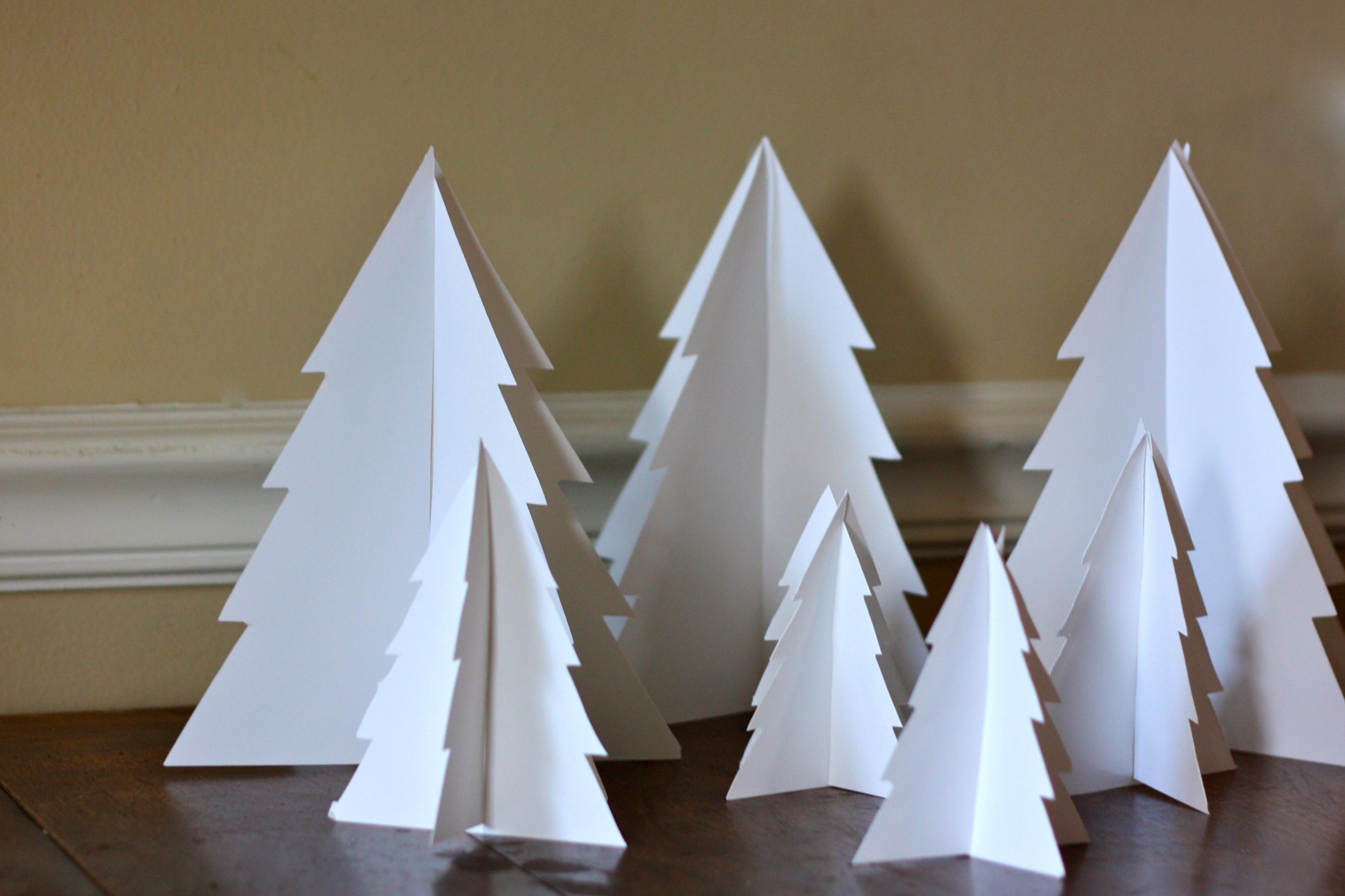 3d Paper Christmas Tree.Preschool Project 3d Paper Trees Buzzmills